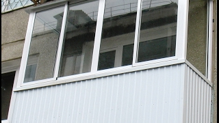 БАЛКОН ЦЕНТР. Остекление балкона без выноса(, 2017-02-12T13:56:25.000Z)