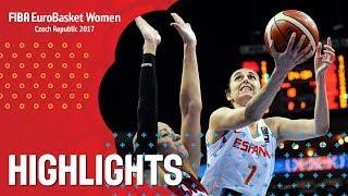 Spain v Latvia - Хайлайты - Quarter-Finals - FIBA EuroBasket Women 2017