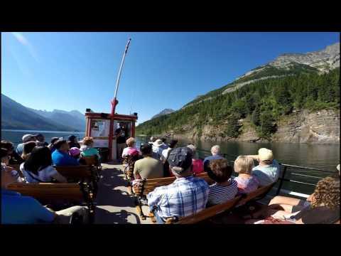 Cruise Ship: Waterton, Alberta to Goat Haunt, Montana, July 6, 2017
