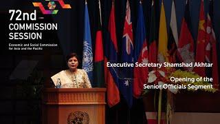 Executive Secretary at the Opening the Senior Officials Segment of CS72