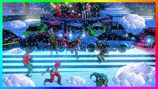 gta online christmas dlc festive surprise snow is here free gifts new benny s car gta 5 dlc