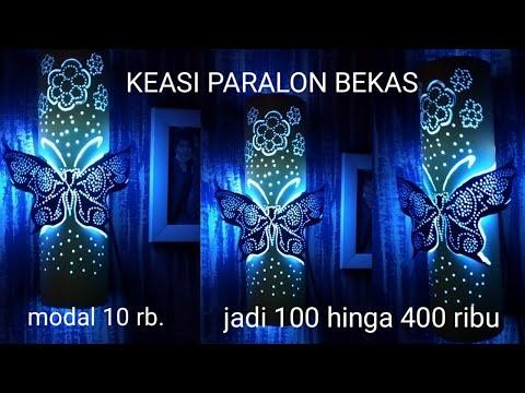 cara bikin lampu hias dari paralon gambar kupu kupu.