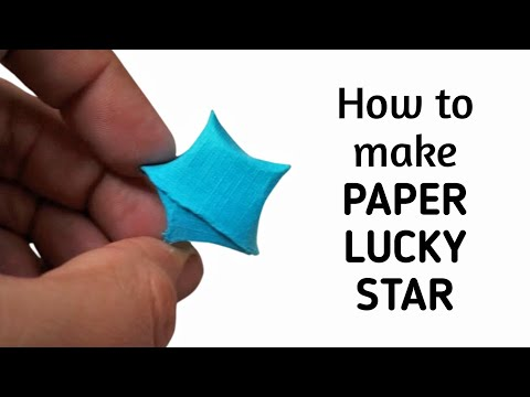 How to make an origami paper lucky star | Origami / Paper Folding Craft, Videos & Tutorials.