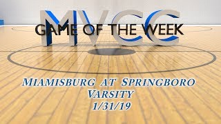 MVCC Game of the Week: Girls Miamisburg at Springboro