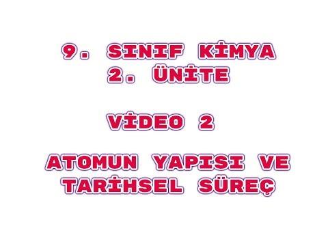 5) 9. Sınıf Kimya 2. Ünite Video 2 Atomun Yapısı (İzotop-İzoton-İzobar-İzoelektronik Atomlar))