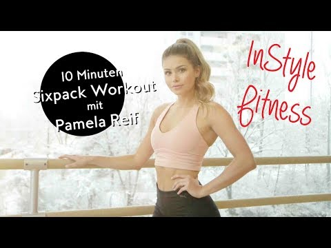 10 Minuten Sixpack Workout mit Pamela Reif