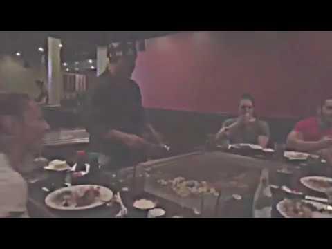 UFC Cris Cyborg, Jose Aldo, Gabi Garcia ULTIMATE FOOD CATCHING Teppanyaki Style