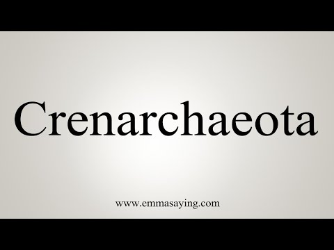 How To Pronounce Crenarchaeota