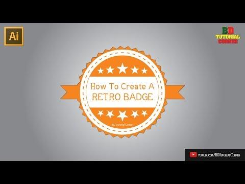 How To Create A Retro Style Badge Logo (Bangla)   Adobe Illustrator Tutorial - 9