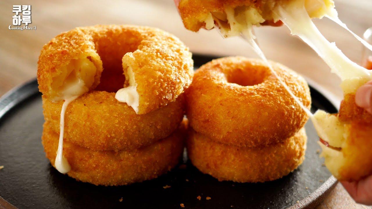 포근포근~! 감자 치즈 도넛!! 바삭한데 부드러워?!! 깜짝 놀랄 맛.