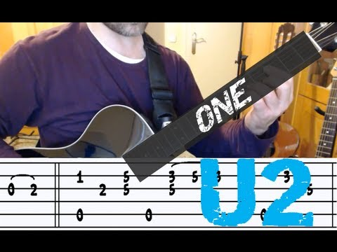 One (U2), Intro Riff adapted for Fingerstyle Guitar (with TAB)