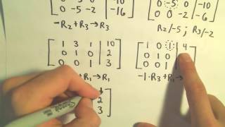 Using Gauss-Jordan to Solve a System of Three Linear Equations - Example 1