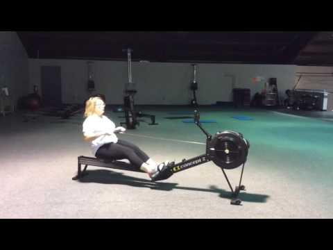 Alison Davies rowing technique