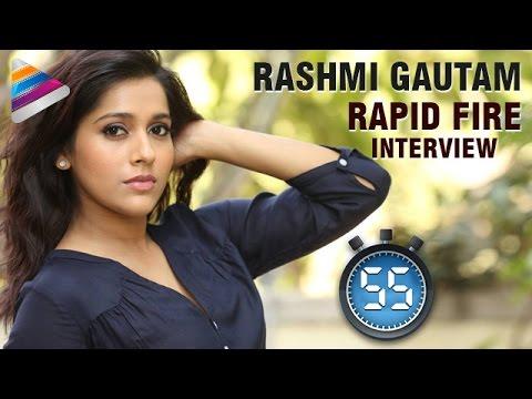 Rashmi Gautam SHOCKING COMMENTS on Mahesh Babu | Rashmi Rapid Fire Interview | Telugu Filmnagar