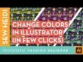 Adobe Illustrator Fashion Design Tutorial: Recolor Flat Sketches (including repeating patterns)