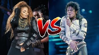 Michael Jackson Vs. Janet Jackson - BATTLE OF THE SIBLINGS (Record Sales, Live Performances, Tours)