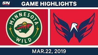 NHL Game Highlights | Wild vs. Capitals - March 22, 2019