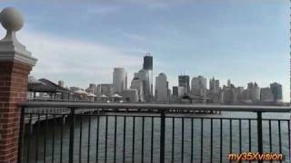 Jersey City on the Hudson River with Manhattan views in HD