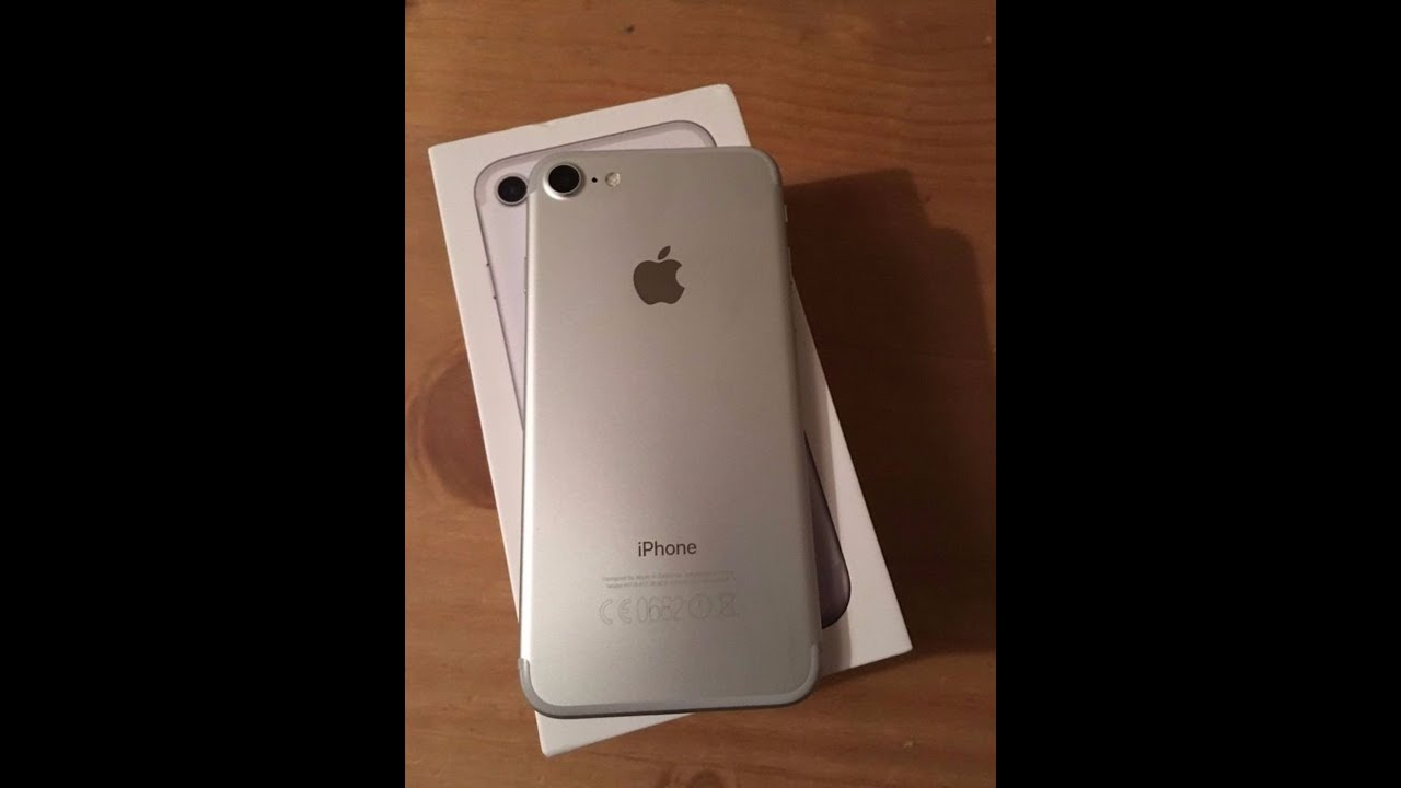iphone 7 silver 32gb unboxing youtube. Black Bedroom Furniture Sets. Home Design Ideas