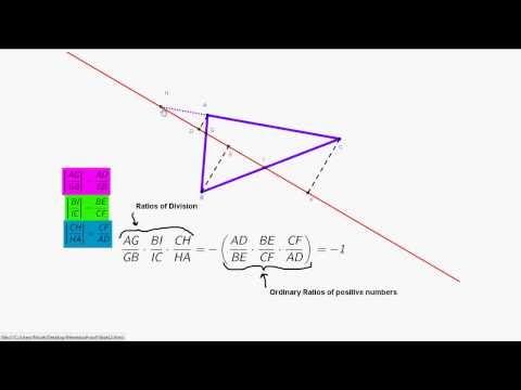 Description of Proof of Menelaus's Theorem