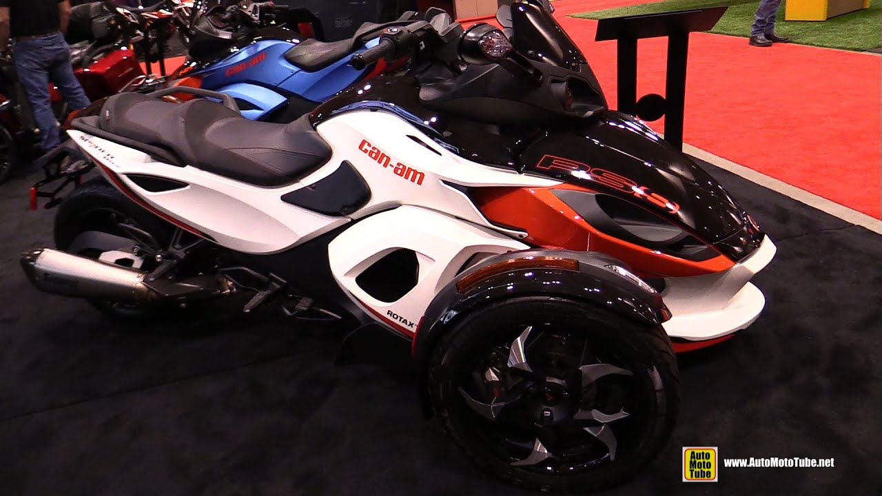 2015 can am spyder rs s accessorized walkaround 2015 toronto motorcycle show youtube