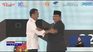 Pernyataan Penutup Jokowi dan Prabowo Usai Debat Keempat Capres