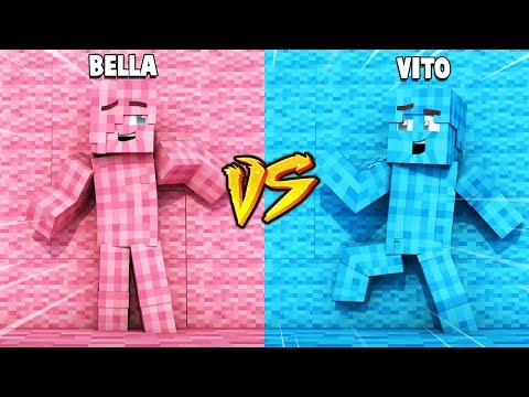 CHŁOPAK VS DZIEWCZYNA ZABAWA W CHOWANEGO W MINECRAFT (Hide and Seek) | Vito vs Bella thumbnail