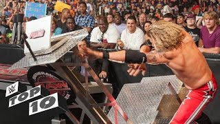 Superstars Demolishing WWE Equipment - WWE Top ...