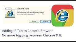 Adding IE Tab for chrome