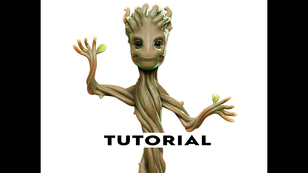 62de2f492 Modelling Baby Groot ready for 3D Printing - YouTube