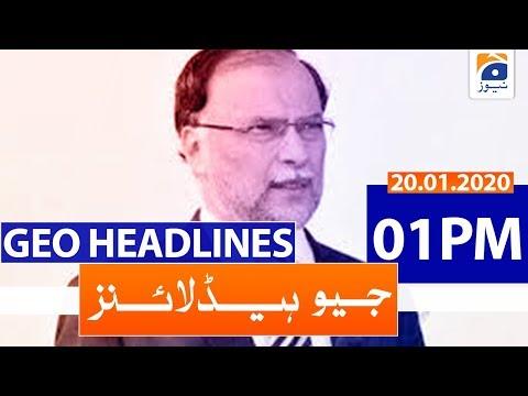 Geo Headlines 01 PM   20th January 2020