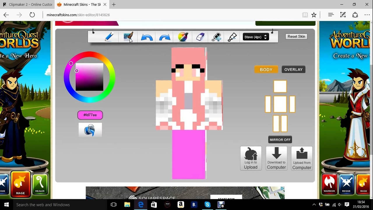 Minecraft Skindex How To Editdownload Skins YouTube