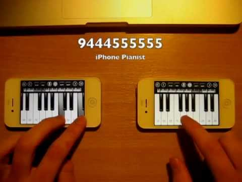 Paradise - Coldplay Two iPhone Pianos / iPod Touch Pianos