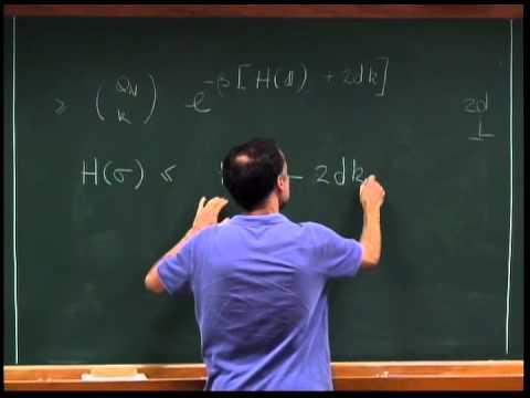 Programa de Mestrado - Introdução à Mecânica Estatística - Aula 01