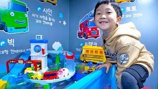 타요 버스와 로보카 폴리 예준이의 자동차 장난감 긴급출동 도로놀이 키즈 카페 실내 놀이터 어린이 동요 Tayo Bus Car Toy for Kids Indoor Playground