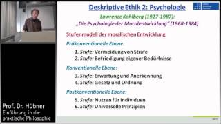 Praktische Philosophie 1b: Deskriptive Ethik - Smith, Kohlberg, Luhmann