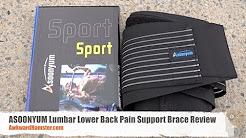 ASOONYUM Lumbar Lower Back Pain Support Brace Review