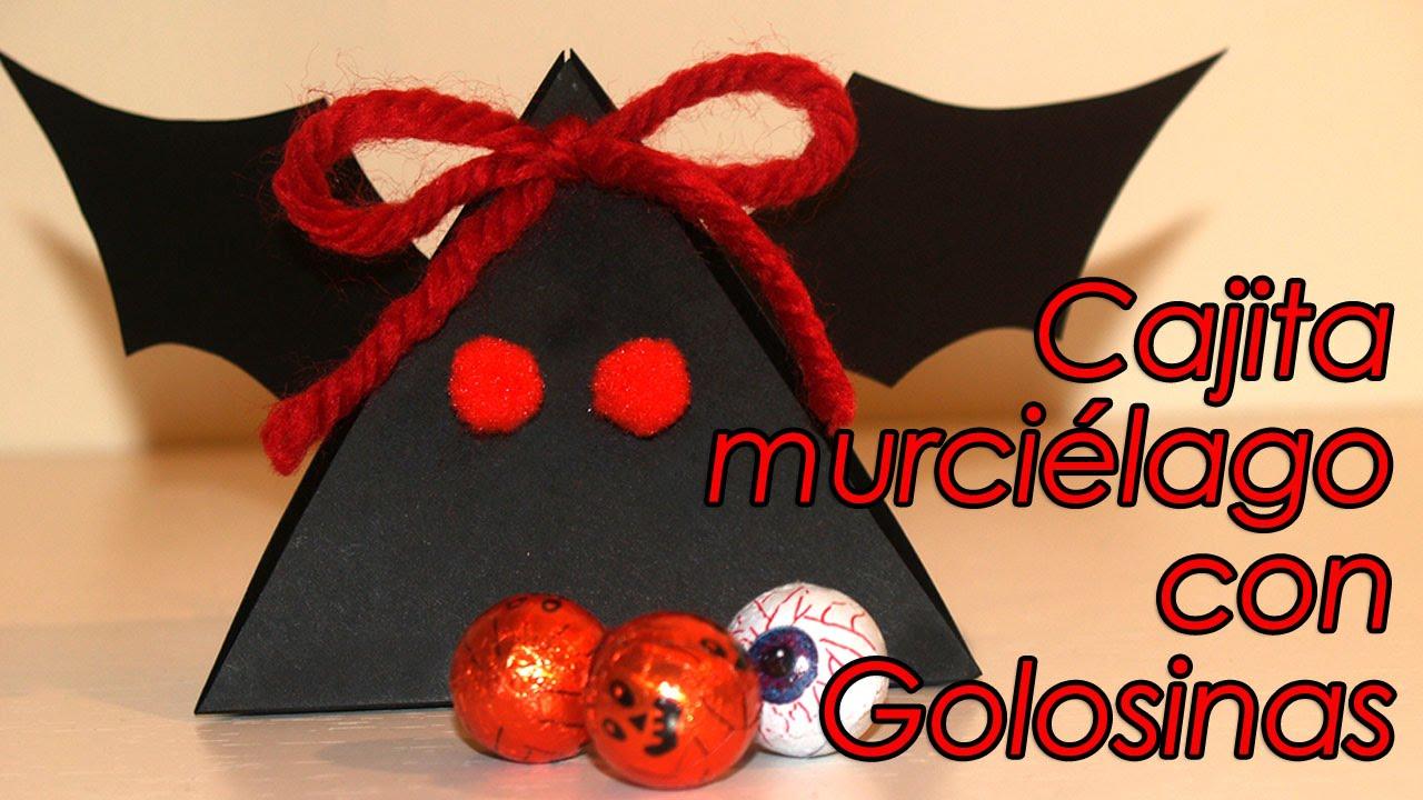 Cajita murci lago con golosinas para halloween bat box - Murcielagos para halloween ...