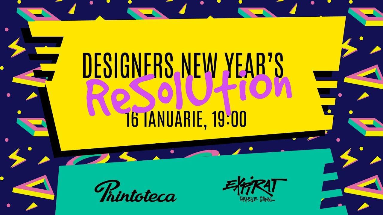 Designers New Year's Resolution 2017