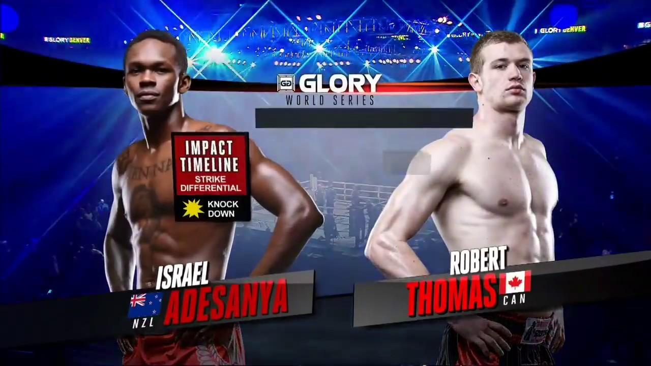 GLORY 34 Denver: Israel Adesanya vs  Robert Thomas (Tournament Semi-Finals)