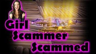 Fortnite- Girl Scammer Gets Scammed!? (Fortnite save the world PVE)