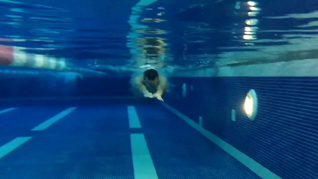 Underwater breaststroke swimming