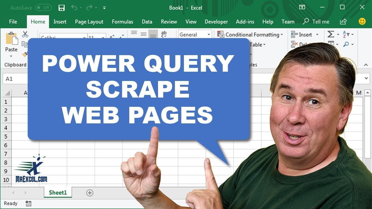 Learn Excel - Scrape Webpages Using Power Query - Podcast 2056