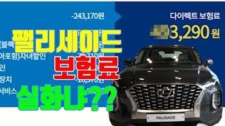 팰리세이드 보험료 실시간 견적!다른 차량들과 보험료 비…
