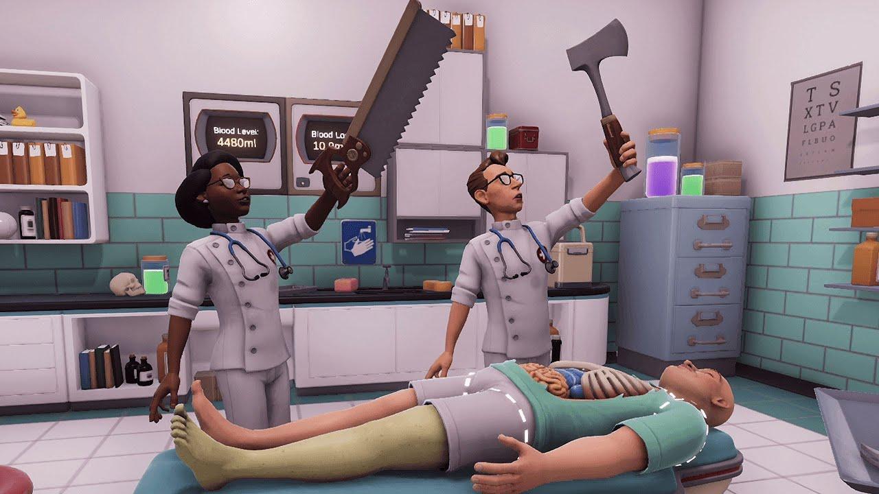 ハチャメチャ協力手術ゲームで教授に教わりながら大爆笑【Surgeon Simulator 2】