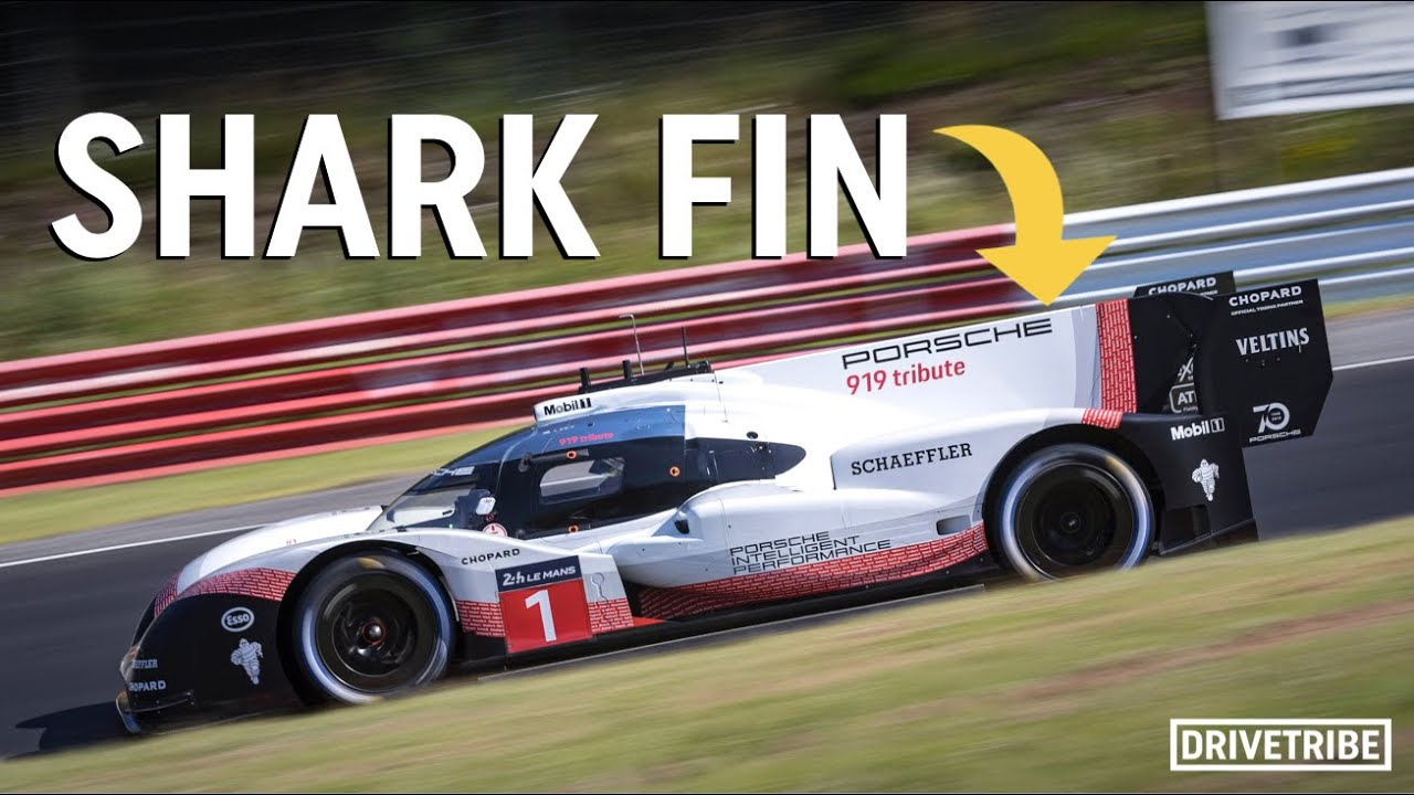 Why do some racing cars have shark fins?