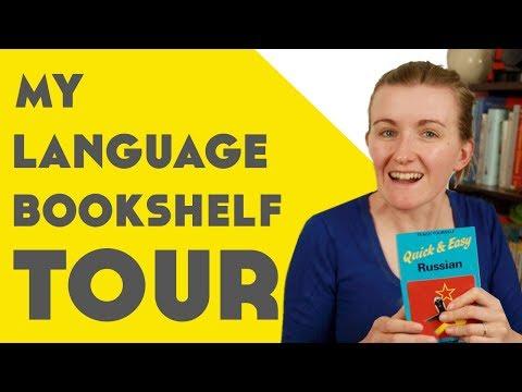 My Language Bookshelf Tour║Lindsay Does Languages Video