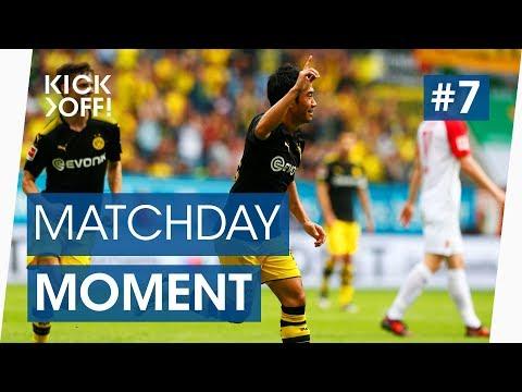 Shinji Kagawa scores wonder goal to break Bundesliga record | Augsburg v Dortmund | Matchday Moments