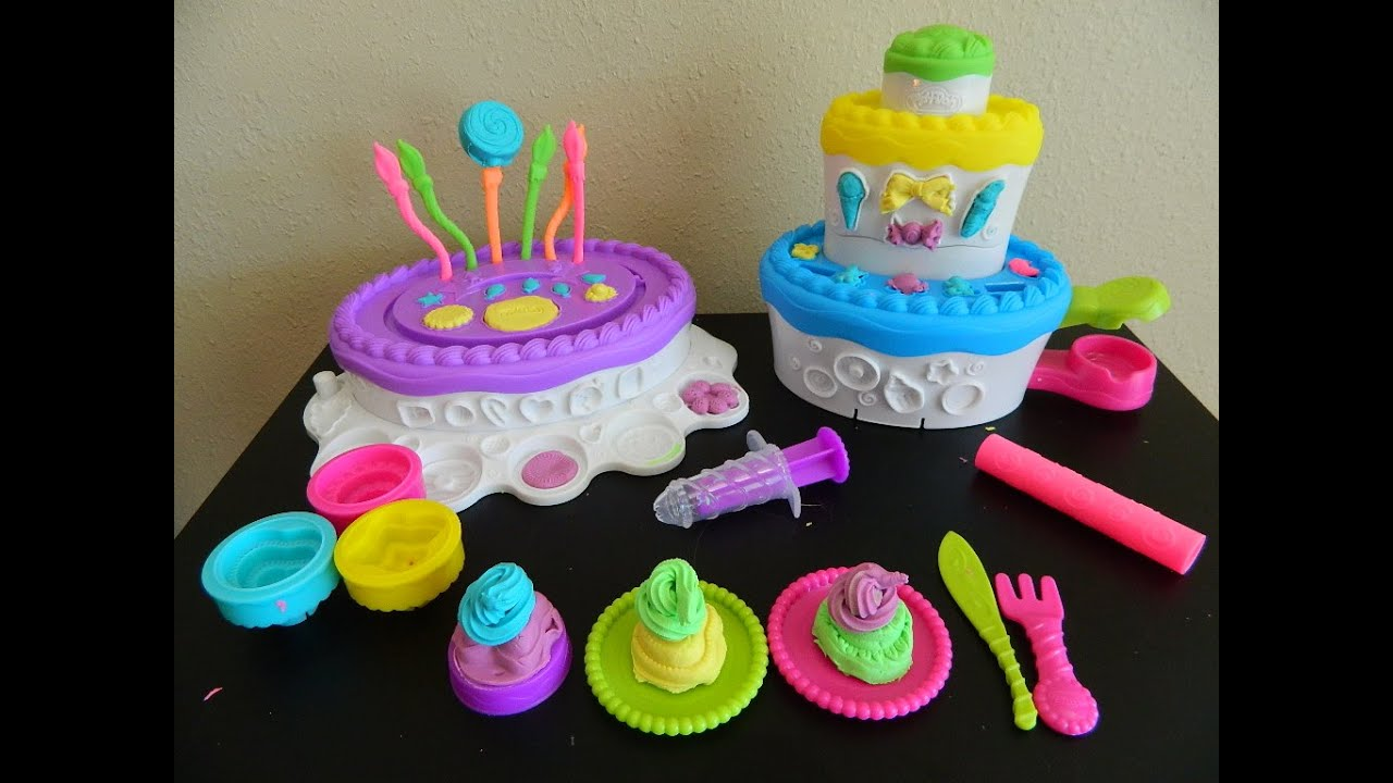 Play Doh Cake Mountain Play Dough Sweet Shoppe Toy Review ...
