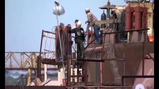 Вести 24. Спуск головного судна проекта RST54 на воду. Окская судоверфь.(, 2014-07-29T05:49:30.000Z)